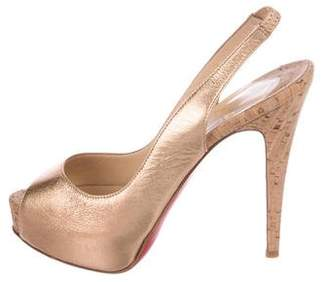 Christian Louboutin So Private Slingback Pumps