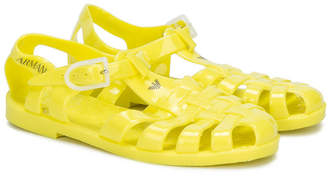 Emporio Armani Kids caged jelly sandals