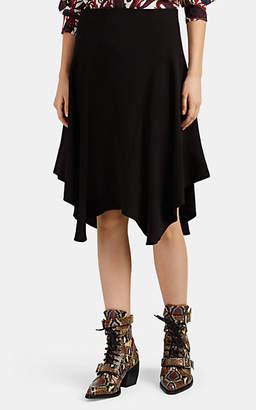 Chloé Women's Cady Handkerchief-Hem Midi-Skirt - Black