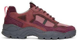 Filling Pieces Burgundy Low Curve Iceman Trimix Sneakers