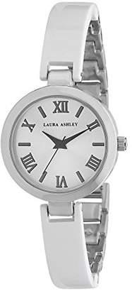 Laura Ashley Women's LA31002WT Analog Display Japanese Quartz White Gold-Tone Watch $45.26 thestylecure.com