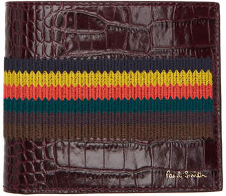 Paul Smith Burgundy Bright Stripe Wallet