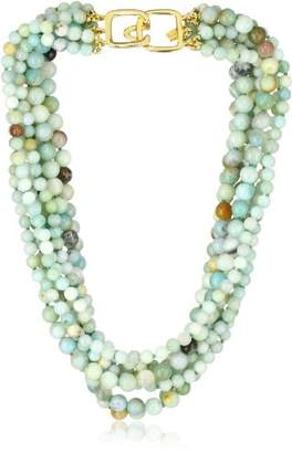 Kenneth Jay Lane 8 Row Jade Bead Necklace