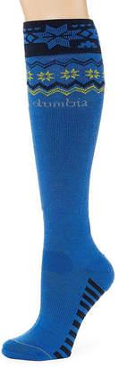 Columbia Womens Nordic Print Wool-Blend Knee-High Ski Socks