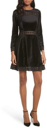 Ted Baker Geo Lace Long Sleeve Dress