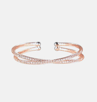 Avenue Mesh Criss Cross Cuff Bracelet