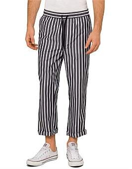 Ami Striped Casual Trouser With Elasticated Waist