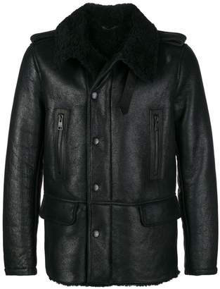 Etro fur lined leather jacket