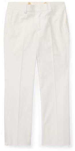 Woodsman Cotton-Stretch Gabardine Pants, White, Size 4-7