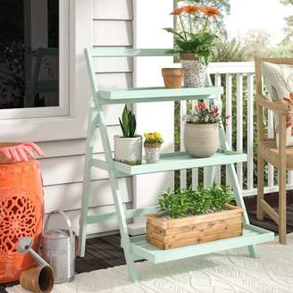Modern Outdoor Charlton Home Goreville Multi-Tiered Plant Stand