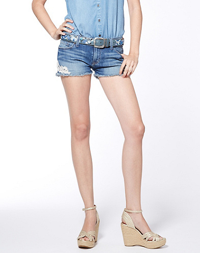 Lucky Brand Riley Cut Off Lace Shorts