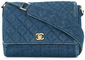 7a2ad77513f6 Chanel Pre-Owned quilted denim shoulder bag