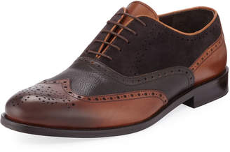 Jared Lang Men's Wing-Tip Leather Dress Shoes