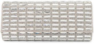 Olga Berg Aston Crystal Foldover Clutch