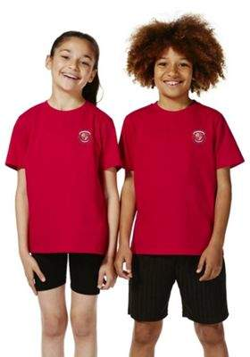F&F Unisex Embroidered Sports T-Shirt 7-8 yrs