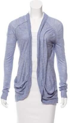 Inhabit Silk Open Front Cardigan