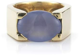 Cartier 18K Yellow Gold and Chalcedony Ring