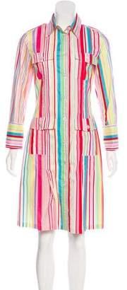 Etro Striped Knee-Length Dress