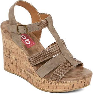 POP Womens Avon Wedge Sandals