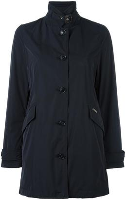 Woolrich banded collar buttoned coat $461.83 thestylecure.com