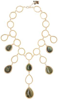 Rosantica BY MICHELA PANERO Scarabeo teardrop stone necklace