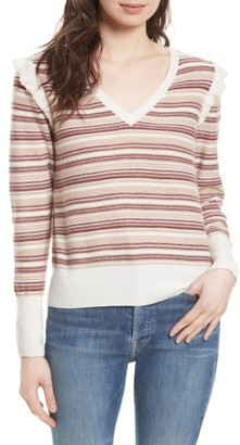 Women's Joie Cais D Stripe Wool Blend Sweater $278 thestylecure.com