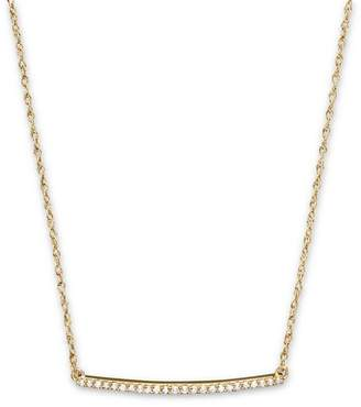 Bloomingdale's Diamond Mini Bar Necklace in 14K Yellow Gold, .10 ct. t.w.