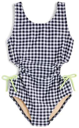 J.Crew crewcuts by crewcuts by J. Crew Clara Gingham One-Piece Swimsuit