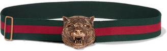 Gucci - Striped Canvas Belt - Green $420 thestylecure.com