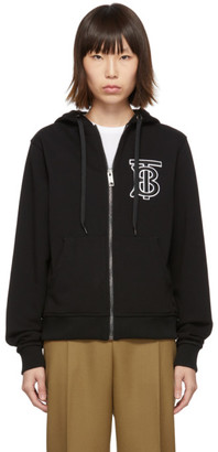 Burberry Black Monogram Oversized Aubree Hoodie