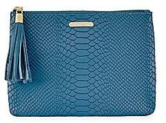 GiGi New York Women's All-In-One Python-Embossed Leather Clutch