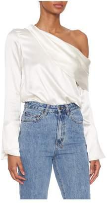 Alix Clara Off-Shoulder Silk Bodysuit
