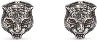 Gucci Feline head cufflinks in silver