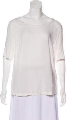 Anine Bing Scoop Neck Short Sleeve Top