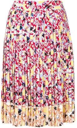 Jil Sander Navy floral midi skirt