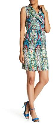Amelia Printed Sleeveless Notch Collar Dress