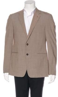 Prada Mini Houndstooth Wool-Blend Blazer