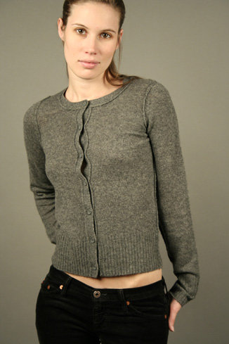 Splendid Cashmere Cardigan - Grey