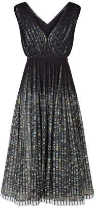 N°21 Pleated Floral Midi Dress