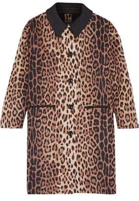 Moschino Leopard-Print Wool-Blend Coat