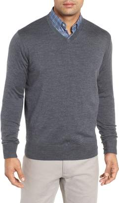 Peter Millar Wool & Silk V-Neck Sweater