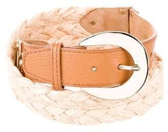 Michael Kors Braided Straw Belt