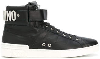 Moschino hi-top logo sneakers