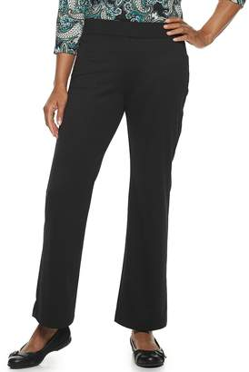 Croft & Barrow Petite Pull-On Ponte Bootcut Pants