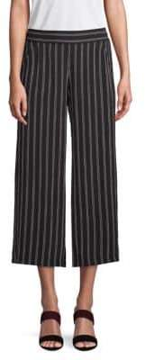 Max Studio Striped Wide-Leg Cropped Pants