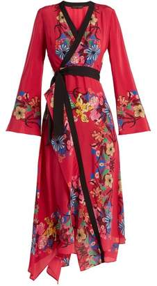 Etro Fluorite Printed Silk Dress - Womens - Pink Print