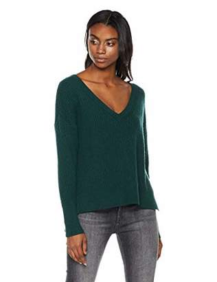 Native Star Women's Rayon/Polyester/Nylon DEEP V-Neck Pullover Sweater