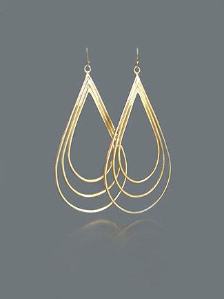 AWA Jewerly Triple Teardrop Earrings