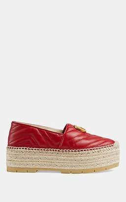 Gucci Women's Quilted Leather Platform Espadrilles - Red