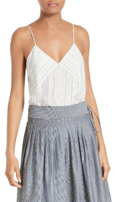 Women's Vince Stripe Silk Camisole $245 thestylecure.com